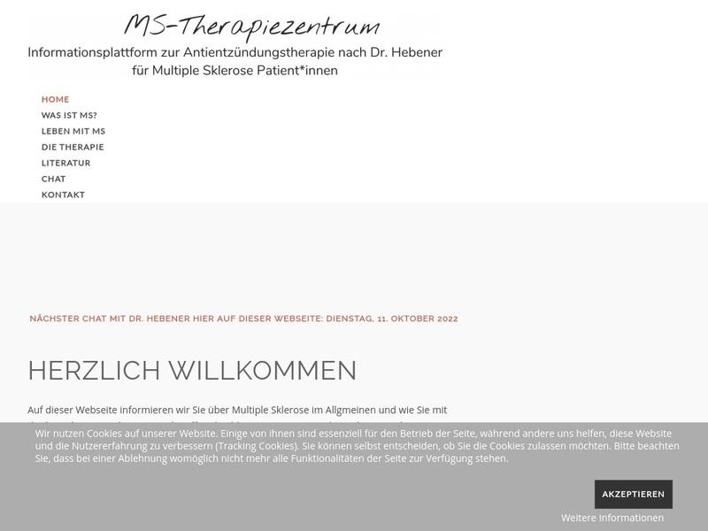 Screenshot von http://www.ms-therapiezentrum.de/