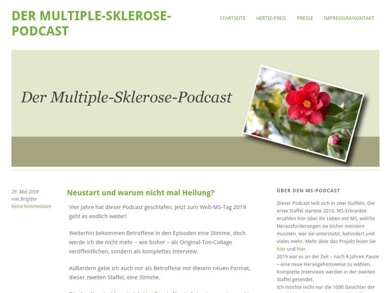 Screenshot von http://www.der-ms-podcast.de