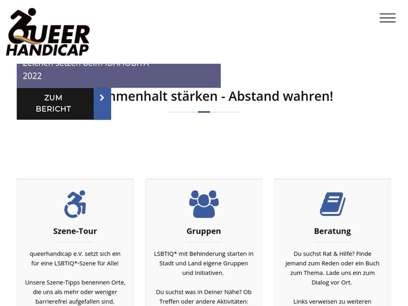 Screenshot von http://www.queerhandicap.de/